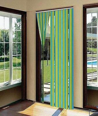 2 x Plastic Door Blind Screen Strip Fly Insect Striped Curtain 90cm x 200cm STV
