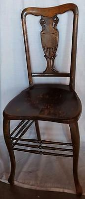 Antique Victorian Side Chair - Carved Detailed Splat - High Back -  BEAUTIFUL
