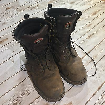 Red Wing Shoes Irish Setter Work Logger Boots Mens 13 Steel Toe Waterproof Brown