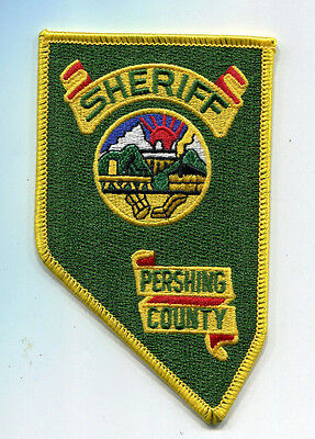 Pershing County Nevada Sheriff Patch /// State Shape