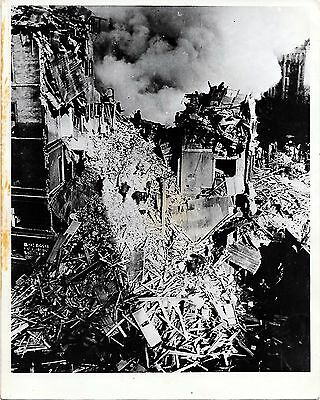 Original German Wwii Photograph: Aerial View Of Eppendorfer Baum After Bombing