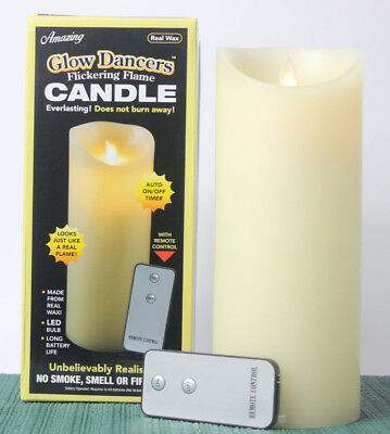 FLICKERING FLAME CANDLE LIGHT REAL WAX BATTERY OPERATED GLOW DANCERS