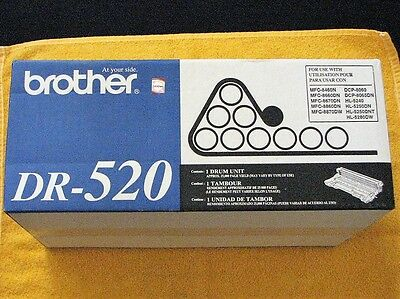 1 - Brother DR-520 Printer drum unit  It is not factory sealed