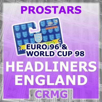 CRMG Corinthian Headliners ENGLAND EURO 96 & WORLD CUP 1998 (choose from list)
