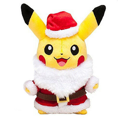 Pokemon Pikachu With Christmas Santa Claus Coat/Hats Plush Toy Dolls Xmas Gifts