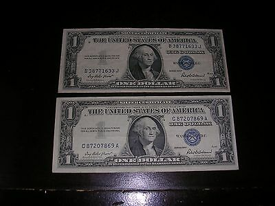 1935 & 1957 $1 Silver Certificate Note in VF/XF condition ($2 face Value)