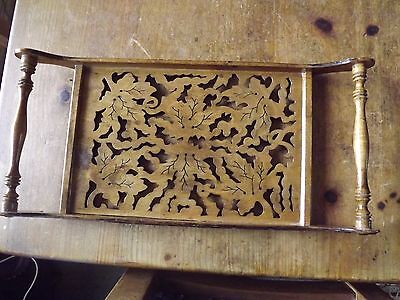 A Vintage 2 Handled Art Nouveau Wooden Carved Tray