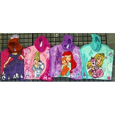 Girls Disney toddler polyester coral fleece hooded poncho 24pcs. [GDTCFHP]
