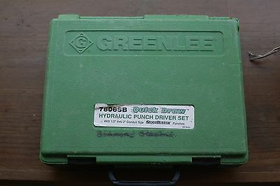Greenlee Quick Draw Hydraulic Knockout Punch Set 7806Sb Works Great