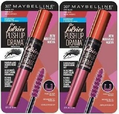 Maybelline The Falsies Push up Drama Mascara 307 Very Black x2, Waterproof