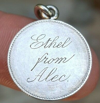 """Aprx 1850 France (2nd Repulic) 5 Franc Silver Love Token coin  """"Ethel from Alec"""""""