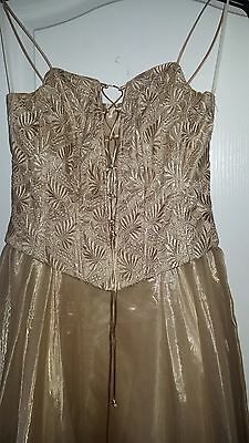 Ladies Prom Party Ball Gown Formal Wedding Bridesmaid Evening Dress Size Small