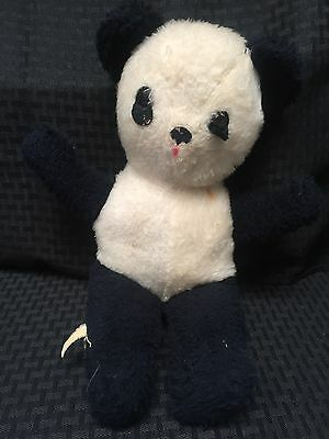 "The Rushton Company Black White Panda 16"" Teddy Bear Plush Vtg Stuffed"