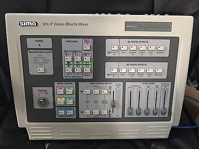Sima SFX-9 Analog Video Effects Mixer w/power supply (VHS VCR)