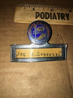 Vintage Standard Oil Service Pin Badge (Indiana) Gas Station