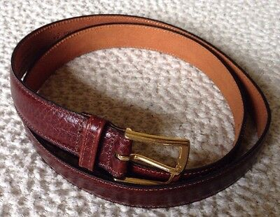 Men's Reddish Brown Leather Belt Size 40 Made In USA