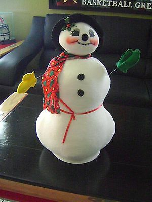 Annalee Doll 21 Inch Christmas Snowman 1999 Made In Usa