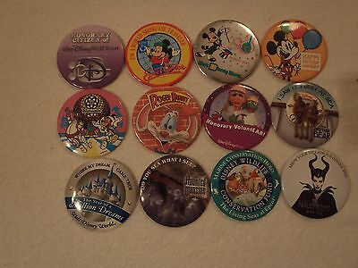 Disney Buttons Lot of 12 ALL DIFFERENT