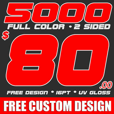 5000 Custom Full Color Business Cards + Free Design Free Shipping