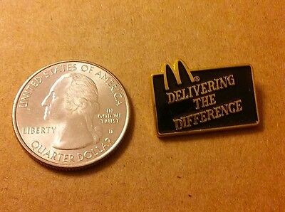 Vintage Mcdonalds Delivering The Difference  Lapel Pin