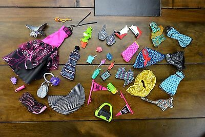 Monster High doll Lot Mattel clothes shoes accessories
