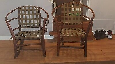 Old Hickory barrel chairs