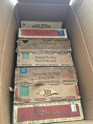 Lot Of 6 Old Cigar Boxes
