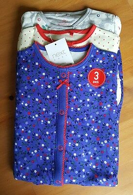 Next 3 Pack  Sleepsuits 6-9Months  Months