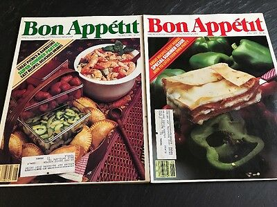Bon Appetit 6 Issue LOT 1984 January, February, May, June, July and August