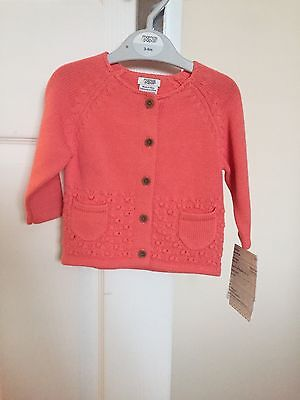 Baby Girls Cardigan 0- 3 Months BNWT Mamas And Papas