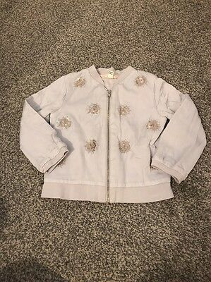 River Island Mini Girls Silver Jacket 18/24 Months Good Condition