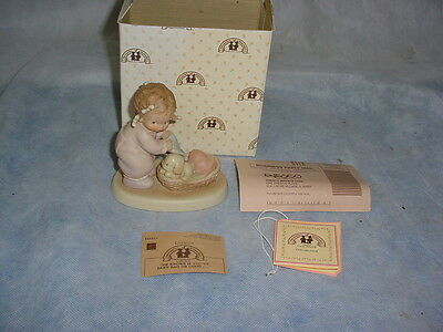 Enesco Mabel Lucie Attwell Memories of Yesterday Girl Puppy Figurine 115355 1988