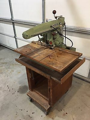 AMF DEWALT mini size Radial Arm Saw Model MBF With Rolling Stand