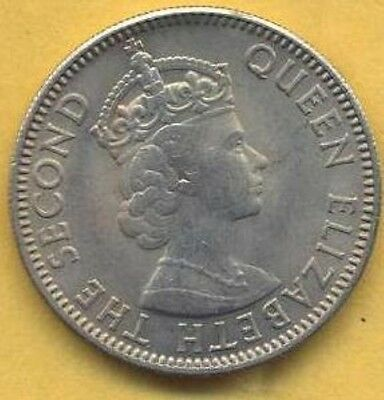 Vintage 1964 Uncirculated British Honduras 25 Cent.