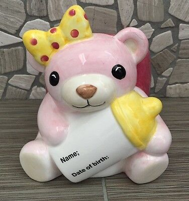 It's A Girl Baby Bear Planter / Candy Dish
