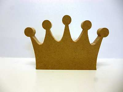 Wooden Freestanding Mdf Princess Crown shape Craft blank F72