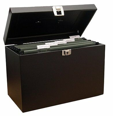 Metal home file foolscap  black