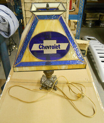 Vintage Genuine GM Chevrolet Chevy Showroom Dealership Dealer Desk Lamp