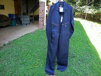 Dickies Navy Blue Long Sleeve Deluxe Work Coveralls Size Xl Regular Nwt