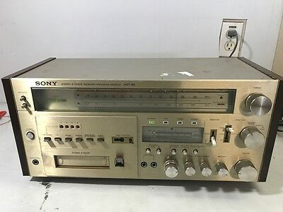 Vintage SONY HST-48 AM/FM 8 Track Stereo Receiver solid state Works