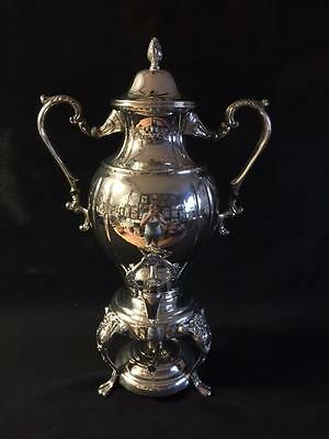 Excellent Sheridan Antique Large Silver Plate Samovar Hot Water Urn Coffee Pot