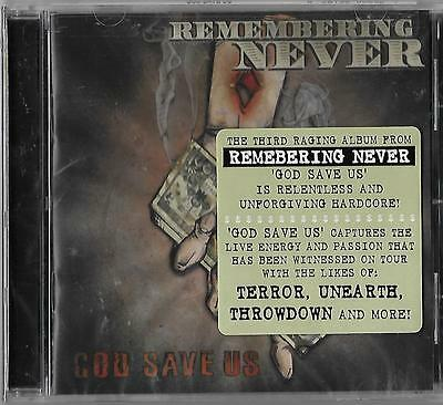 """REMEMBERING NEVER """"God Save Us"""" NEW and SEALED Metal CD!"""