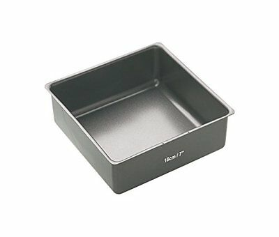 Master Class Non-Stick Deep Square Cake Tin with Loose Base, Grey, 18 cm  7 inch