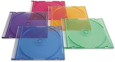 Verbatim CD/DVD Slim Cases Asst 50ct Lighter and More Durable Assorted Colors
