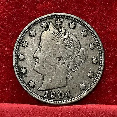 1904 U.S. Liberty 'V' Nickel --FINE--