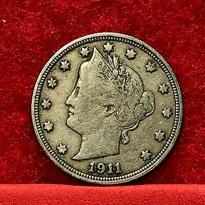 1911 U.S. Liberty 'V' Nickel --FINE--