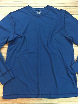 Old Navy Men's Size XL Long Sleeved Blue Crew Neck 100% Cotton Tee