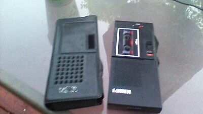 Lanier P-124 Microcassette Recorder Dictaphone w/case Powers Up