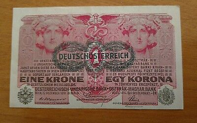 Austria, 1 Korona, 1916 foreign currency paper money
