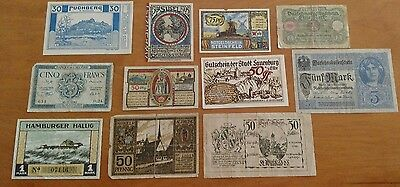 LOT ANTIQUE European CIRCULATED BANKNOTES BANKNOTE CURRENCY